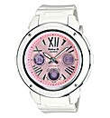 Baby G Pink Dial White Strap Watch