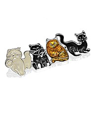 Cute Playful Cats Brooch