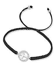 Silver Cubic Zirconia Symbol Bracelet