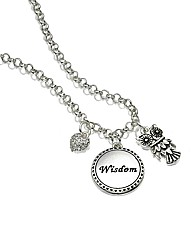 Wisdom Owl Multi-Charm Necklace