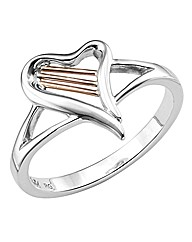 Clogau Sterling Silver Heartstrings Ring