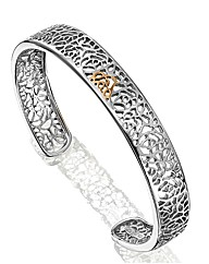 Clogau Silver Royal Roses Open Bangle