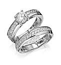 Diamonfire Sterling Silver Ring Set