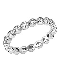 Diamonfire Sterling Silver Eternity Ring