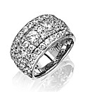 Diamonfire Sterling Silver Chunky Ring