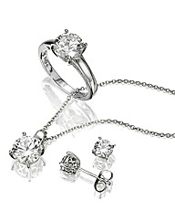 Diamonfire Pendant, Ring & Earring Set