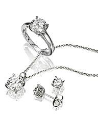 Diamonfire Pendant, Ring & Earring Set
