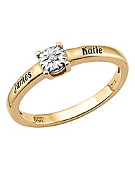 Precious Sentiments Gold Solitaire Ring