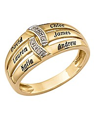 Precious Sentiments Gold Ladies Ring