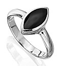 Sterling Silver Whitby Jet Ring
