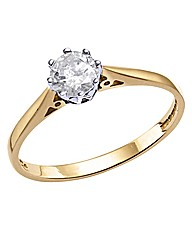 18ct Gold 1/2ct Diamond Ring