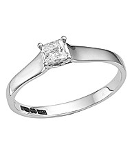18ct White Gold 1/4ct Diamond Ring