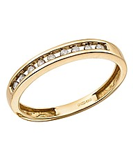 9 Carat Gold Diamond Band Ring