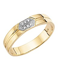 9ct Gold Ladies I Love You Wedding Band