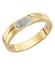 9ct Gold Gents I Love You Wedding Band