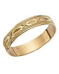 9ct Gold Gents Wedding Band