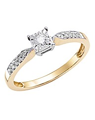 9ct Gold Illusion-Set Diamond Ring