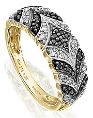 9ct Gold 1/4ct Diamond Ring