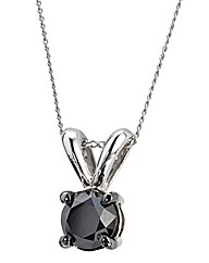 9ct White Gold 1/2ct Diamond Pendant