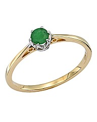 9ct Gold Gemstone Solitaire Ring