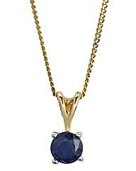 9ct Gold Gemstone Solitaire Pendant