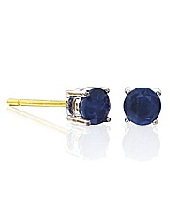 9ct Gold Gemstone Solitaire Earrings