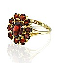 9ct Gold 3 Carat Garnet Cluster Ring