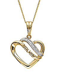 9ct Gold Diamond-Set Family Pendant