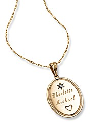 9ct Gold Personalised Diamond Pendant