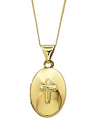 9ct Gold Cross Locket Pendant