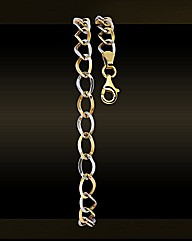 9ct Gold Two-Tone Loop Bracelet