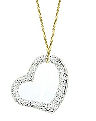 Evoke 9ct Gold Crystal Heart Pendant