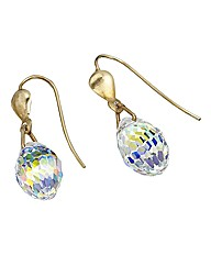 9ct Gold Crystal AB Earrings