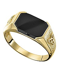 9ct Gold Gents Onyx Ring