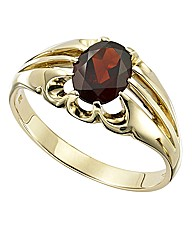 9 Carat Gold Gents Garnet Ring
