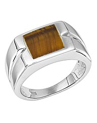 Silver Rhodium-Plated Gents Ring