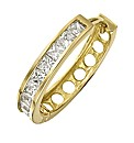 9ct Gold Cubic Zirconia Hoop Earring
