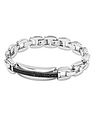 Stainless Steel & Crystal Bracelet