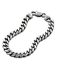 Oxidised Silver Gents 3/4oz Bracelet