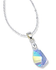 Sterling Silver Crystal Drop Pendant