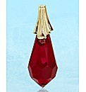 9 Carat Gold Crystal Drop Pendant