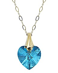 9ct Gold Crystal Drop Pendant