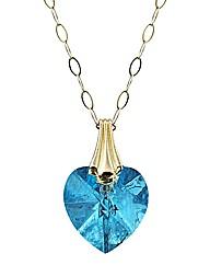 9ct Gold Crystal Drop Pendant