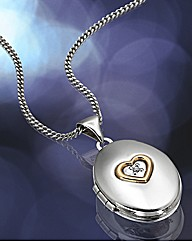 Sterling Silver & Rose Gold Heart Locket