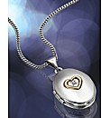 Sterling Silver & Rose Gold Heart Locket