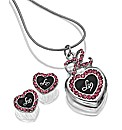 Lipsy Heart Pendant & Earrings Set
