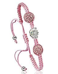 Me To You Pink Crystal Bead Bracelet