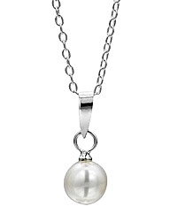 Jo For Girls Silver & Pearl Pendant