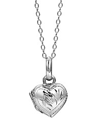 Jo for Girls Silver Heart-Shaped Locket
