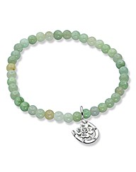 Sterling Silver Mantra Gemstone Bracelet